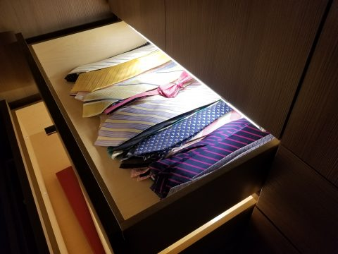 mens tie drawer