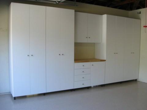 Garage Storage Systems Custom Closets, White Melamine Garage Storage Cabinets