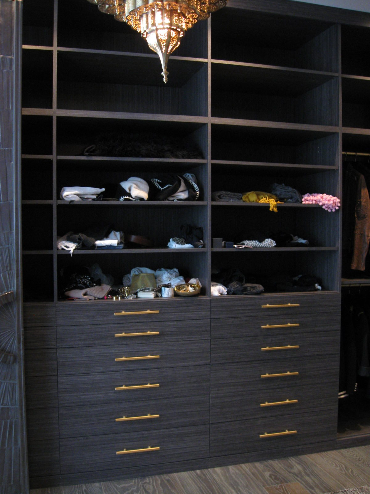 Large Contemporary Master Walk In Closet Bel Air Ca.