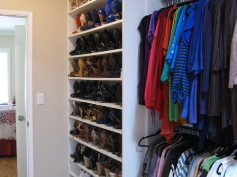 custom shoe storage from The Closet Guy