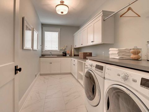 custom laundry room in Beverly Hills