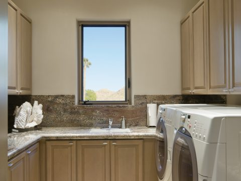 custom made laundry room in Palm Springs