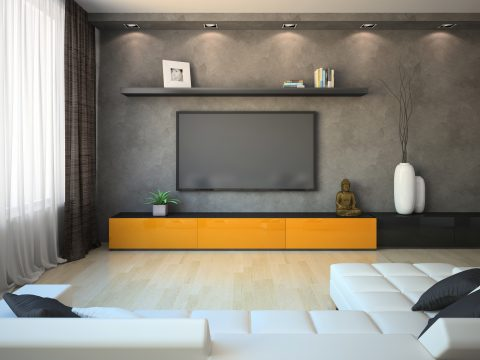 modern dark entertainment unit Los Angeles ca